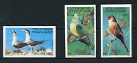 FRENCH  POLYNESIA BIRDS  SCOTT #349/51 IMPERFORATE MINT NEVER HINGED