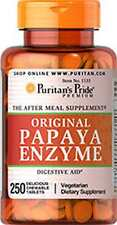 Papaya Enzyme x 250 Chewables Tablets Puritans Pride * AMAZING PRICE *