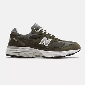 NWB New Balance Mens Made in US 993 Military Green Size 8 to 12 FREE SHIPPING