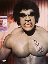 Lou Ferrigno JSA 16x20 Incredible Hulk Hand Signed Autographed