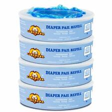 Diaper Pail Refill Bags Compatible with Diaper Genie Pails 4-Pack 1080 Count