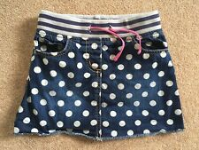 Girls Mini Boden Spotty Denim Skirt 5-6 Years