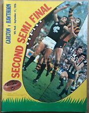 VFL FOOTBALL RECORD SECOND SEMI FINAL 1976 CARLTON v HAWTHORN - AFL