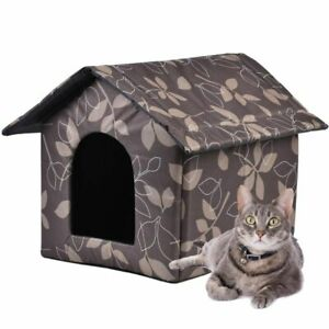 Pet House Warm Waterproof Outdoor Kitty House Dog Shelter Removable And Washable