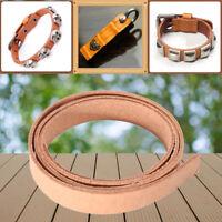 80cm DIY Veg Tanned Full-Grain Belt Blank Leather Strip Strap Backpack