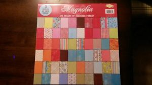 """12"""" x 12"""" SCRAPBOOKING PAPER ** MAGNOLIA ** 180 SHEETS ** My Mind's Eye Paper"""