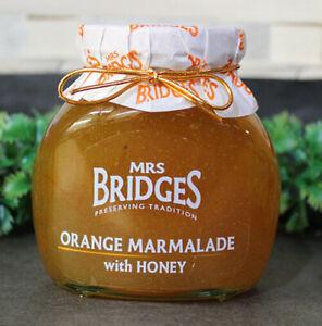MRS. BRIDGES OF SCOTLAND, SET OF 2 JARS, ORANGE MARMALADE with HONEY, IMPORTED