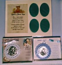 Baby First Year Picture Frame with Two Medallions