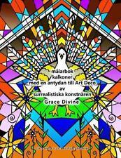 Målarbok Kalkoner Med en Antydan till Art Deco Av Surrealistiska Konstnären...