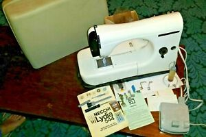 Necchi Lydia Type 544 Electric Sewing Machine Pedal & Carry Case Needles