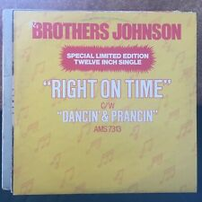 """BROTHERS JOHNSON RIGHT ON TIME CLASSIC 1977 SOUL FUNK DISCO 12"""" VINYL"""