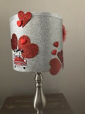 Disney Inspired Unique Red And Silver Glitter 20cm Lampshade