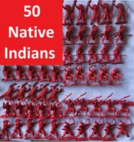 Vintage Airfix 51466 Plastic 50 Soldier 1:32 American West Series Native Indian