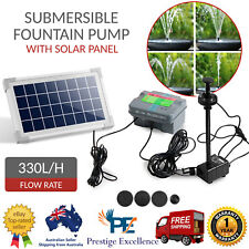 330L/H Submersible Fountain Pump with Solar Panel Water Feature Kit + LED Light
