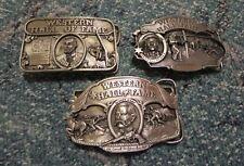 Wyatt Earp ; Wild Bill Hickok ; Jesse James ~ 3 Belt Buckle LOT ~ Siskiyou