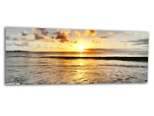 "Acrylic-glass Wallart Golden Mar B/n ag312500553 Xxl Panel 49,2 ""x19.7"" impresión"
