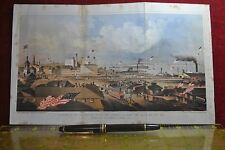 1862 PANORAMA OF FIRE ZOUAVES BOARDING SHIP AT FOOT OF SPRING & CANAL ST, NY