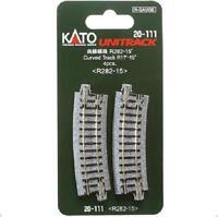 Kato 20-111 Rail Courbe / Curve Track R282mm 15° 4pcs - N