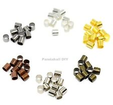 200x 1.5 2mm Closed Smooth TUBE Crimp Beads Earring Jewelry Findings Crimps Bead