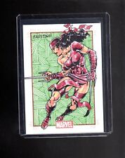 Marvel 75th. Anniversary Faustino sketch card