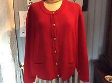 gilet SAINT JAMES  pure laine rouge .t XL .(/LI/Y)