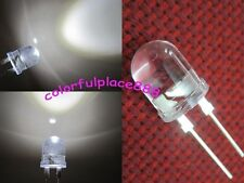 500pcs 10mm 0.5W Yellow 290,000MCD 40°Large Chip Bright Water Clear LED Leds New
