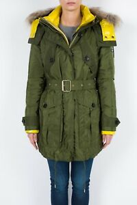 Women's Burberry 3 in 1 Parka Green Sz US 8 Removable Down Jacket Raccoon $2000