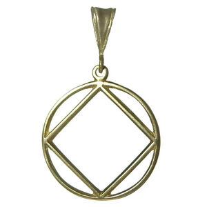 NA Narcotics Anonymous Jewelry, Symbol Pendant, #1181 Large Size, Brass