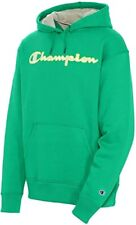 Champion Powerblend Applique Green Myth Pullover Hoodie Sweatshirt Men's Large