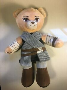 "Build A Bear Star Wars Rey Plush Toy 18"" FREE SHIPPING Excellent Used Condition"