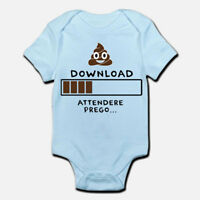 Body pagliaccetto neonato azzurro bimbo bebè Download, attendere...divertente!
