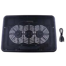 Ergonomic Quiet LED Laptop Cooling Pad Cooler Stand w/ 2 USB Powered Fans