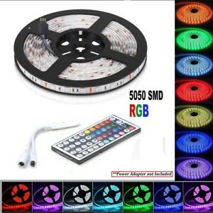 5050 RGB LED Strip Lights 5M IP65 Waterproof 12V+44 KEY IR CONTROLLER
