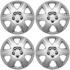 """4PC Universal HubCaps Silver 15"""" Inch Metal Clip Wheel Cover Hub Caps Covers Cap"""