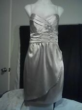 Cooper St Ladies Party Dress in a Light Shiny Flesh Pink Fully Lined Size 8