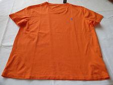 Men's Polo Ralph Lauren v neck T shirt soft L 661004 Signal orange blue logo