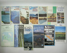 Lot of 14 Canadian Maps Road Provincial Parks Index 2 Topographic Touring Canada