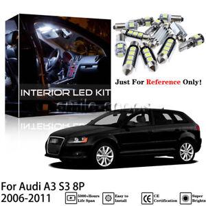 Super White 17Pcs Interior LED Light Kit For 2006-2011 Audi A3 S3 8P + Free Tool