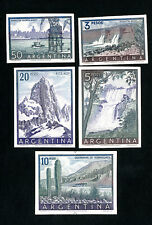 Argentina Stamps # 638-42 XF Cardboard Proofs