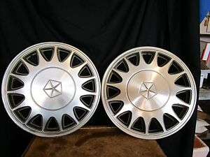 "Mopar 4784605 HUBCAPS 1988 - 93 chrysler dynasty  14"" wheel cover chrysler"