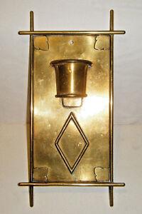 Vintage 1900s Arts & Crafts Gilt Brass Ormolu Water Font / Pocket Wall Plaque