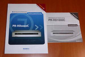 Bedienungsanleitung Humax PR-HD1000C 80 Seiten (deutsch) + Kurzanleitung