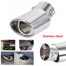 Round Bend Stainless Steel Exhaust Tail Muffler Tip Pipe For Auto Car Universal