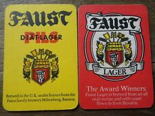Beer mats FAUST PILS LAGER MILTENBERG BAVARIA coasters germany