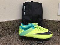 Nike Vapor Superfly III SG Soccer Cleats Volt 442469-755 Men Size 7 = 8.5 Women
