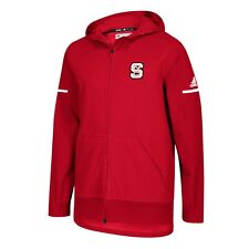 NC State Wolfpack NCAA Adidas Men's 2018 Sideline Red Squad Full-Zip Jacket