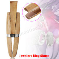 Professional Wooden Ring Clamp Hand Hold Wedge Vise Holder Jewelry Making Tool