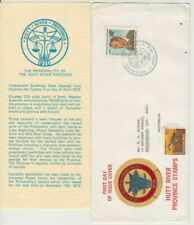 Stamps 1974 Hutt River Province Prince Leonard on Fdc uprated Cocos Isl & insert