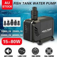 1500 6000 LPH Aquarium Pump Water Submersible Fish Tank Fountain Pond Marine AU