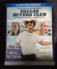 DALLAS BUYERS CLUB BLU RAY + DVD 2 DISC SET WITH SLIPCOVER SLEEVE FREE SHIPPING